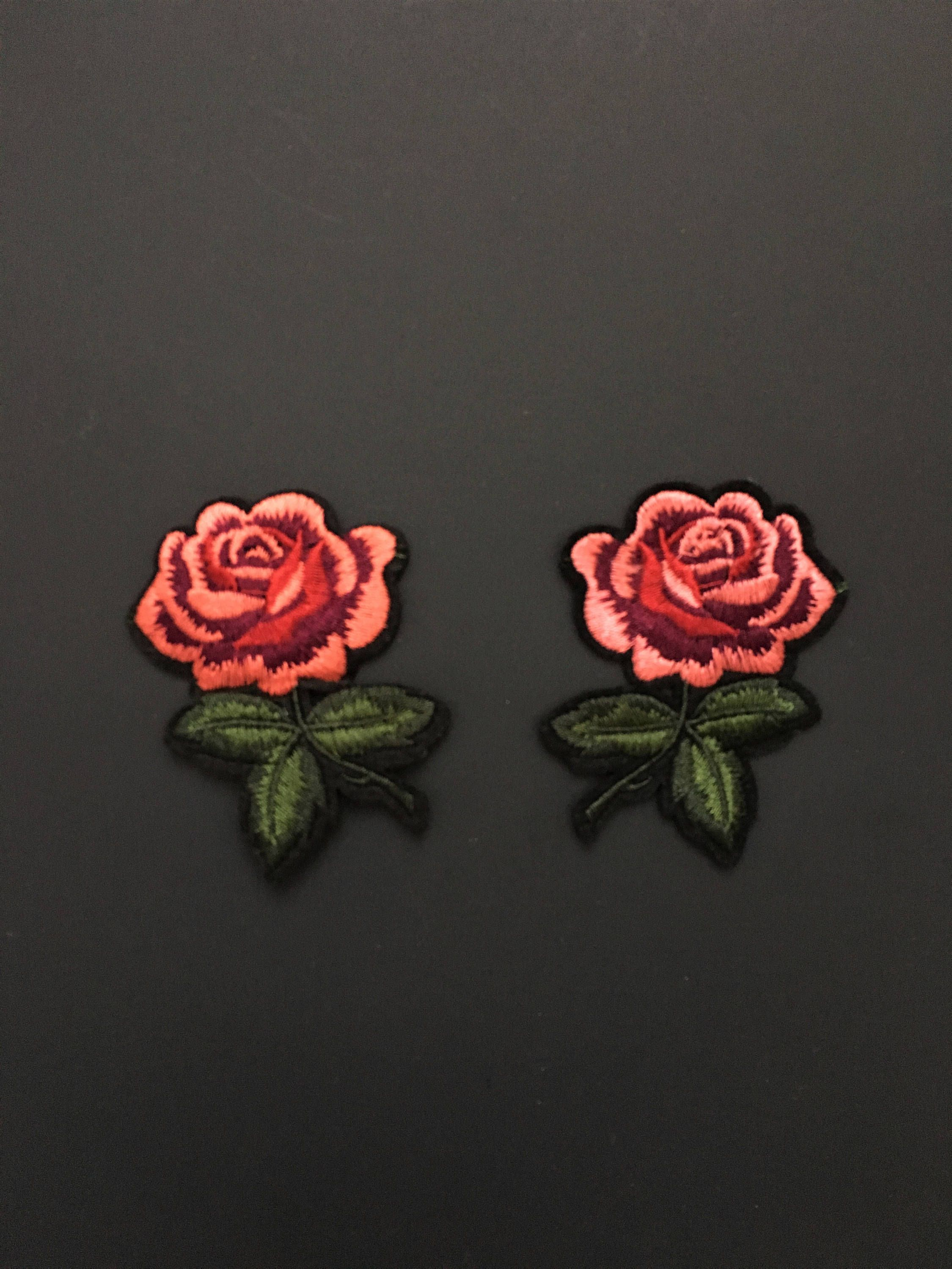 3f72078f388de Iron on patch-Embroidery Patch-Gucci Style Patch-Patches-Rose Patch ...
