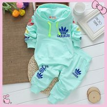 a45e4b6522c Vestidos 2015 Chiristmas New Spring Autumn Children Hooded Outwear+Pants  2pc Sport Suits Unisex Baby Boys Girls Clothing Sets(China (Mainland))