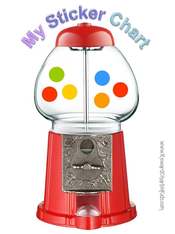 Sticker Chart Sticker Chart Gumball Gumball Machine