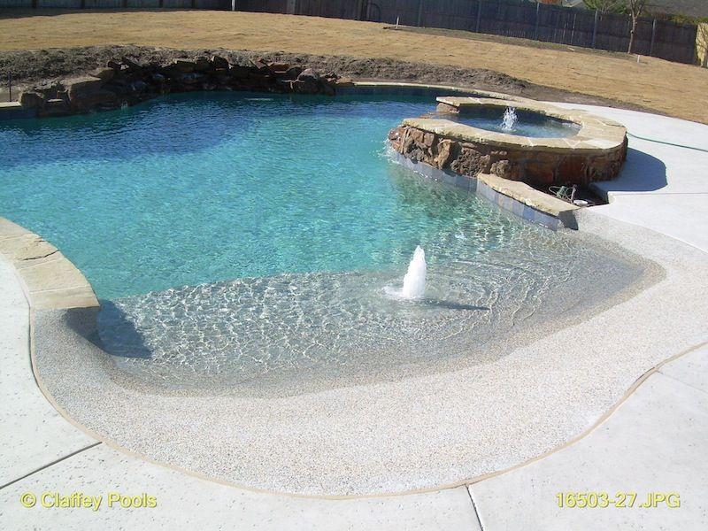 Beach Entry Swimming Pool Design By Aqua Blue Pools
