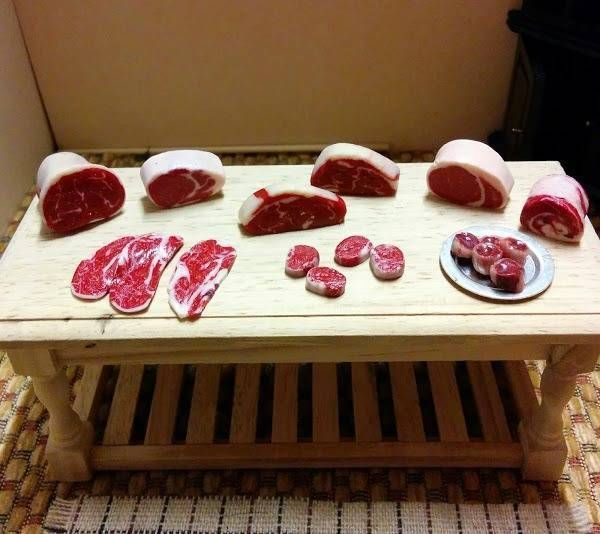 Dolls House Food, Butchers meat selection set A