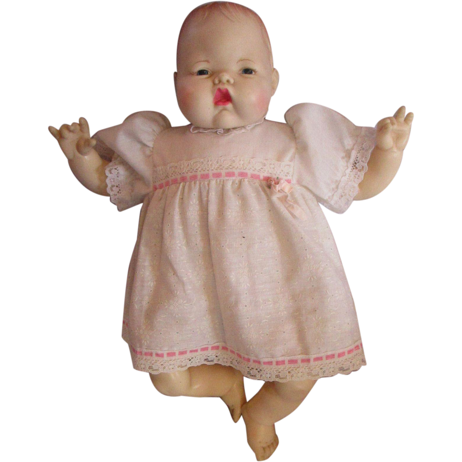 Thumbelina Doll 1980 S Ideal Baby Doll 1983 In Original Dress 17 Newborn Baby Dolls Dolls Thumbelina