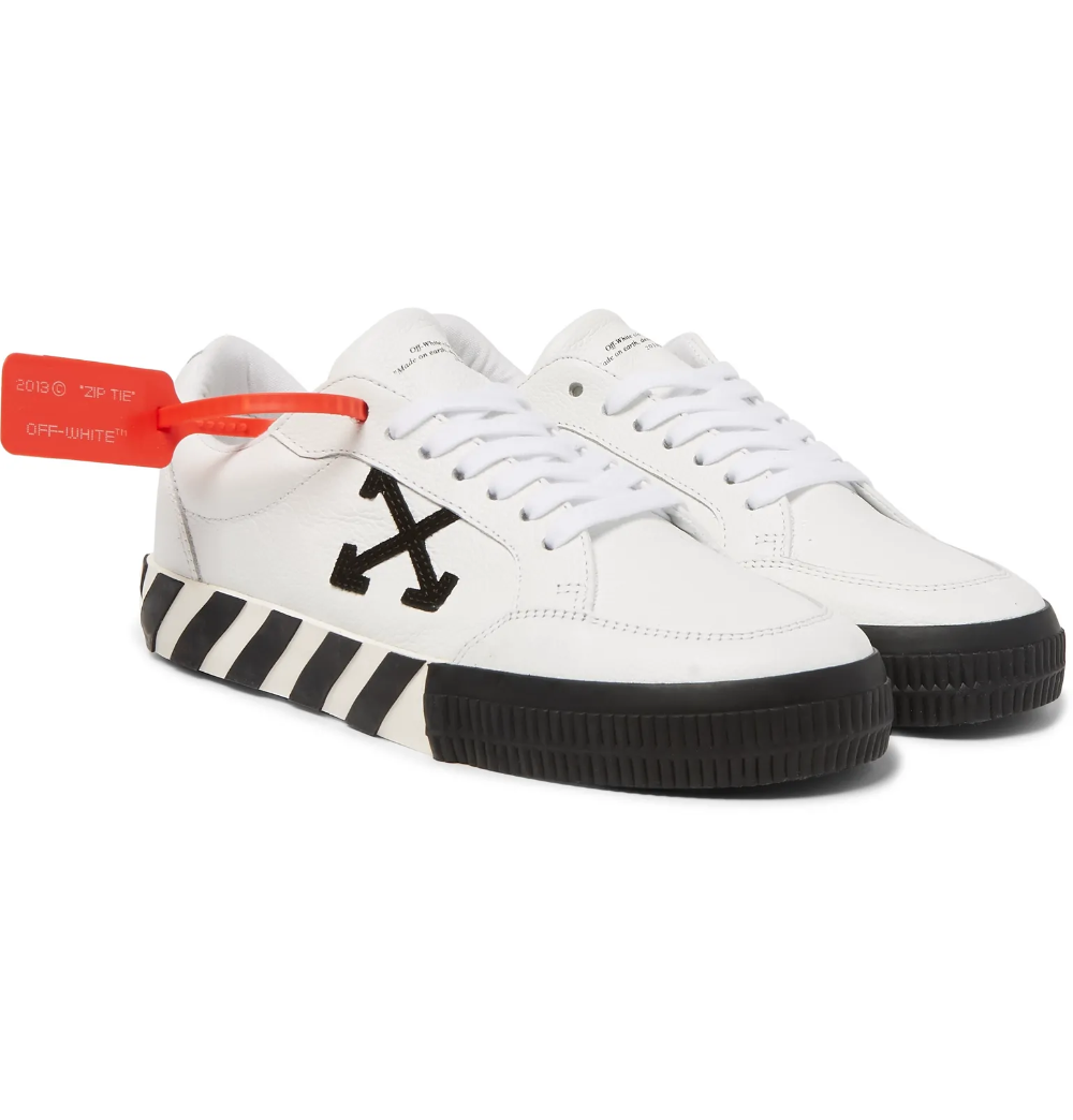Referencing Classic Skateboarding Styles These Off White Low Profile Sneakers Feature So Many Of The Brand Leather Sneakers Men Sneakers Men Leather Sneakers