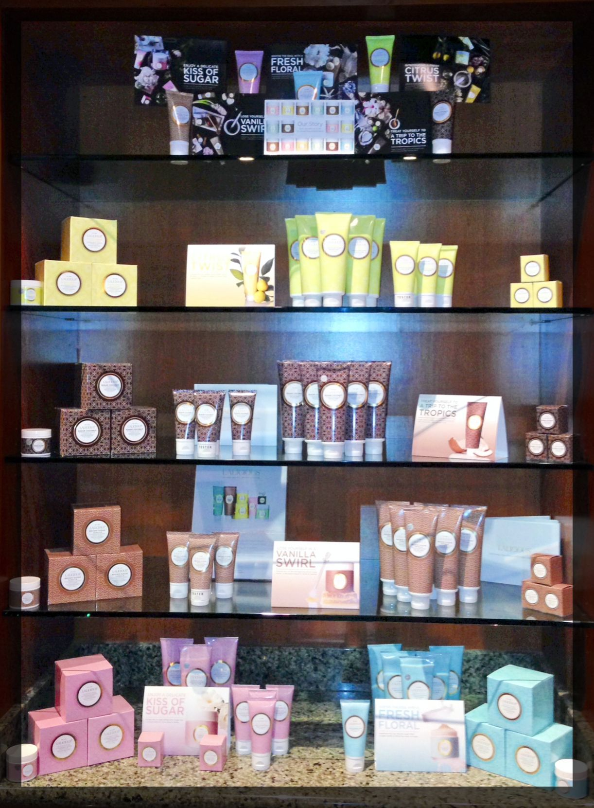 A gorgeous #lalicious display at Spa Costa Del Sur at @southpointcasino in Las Vegas, NV