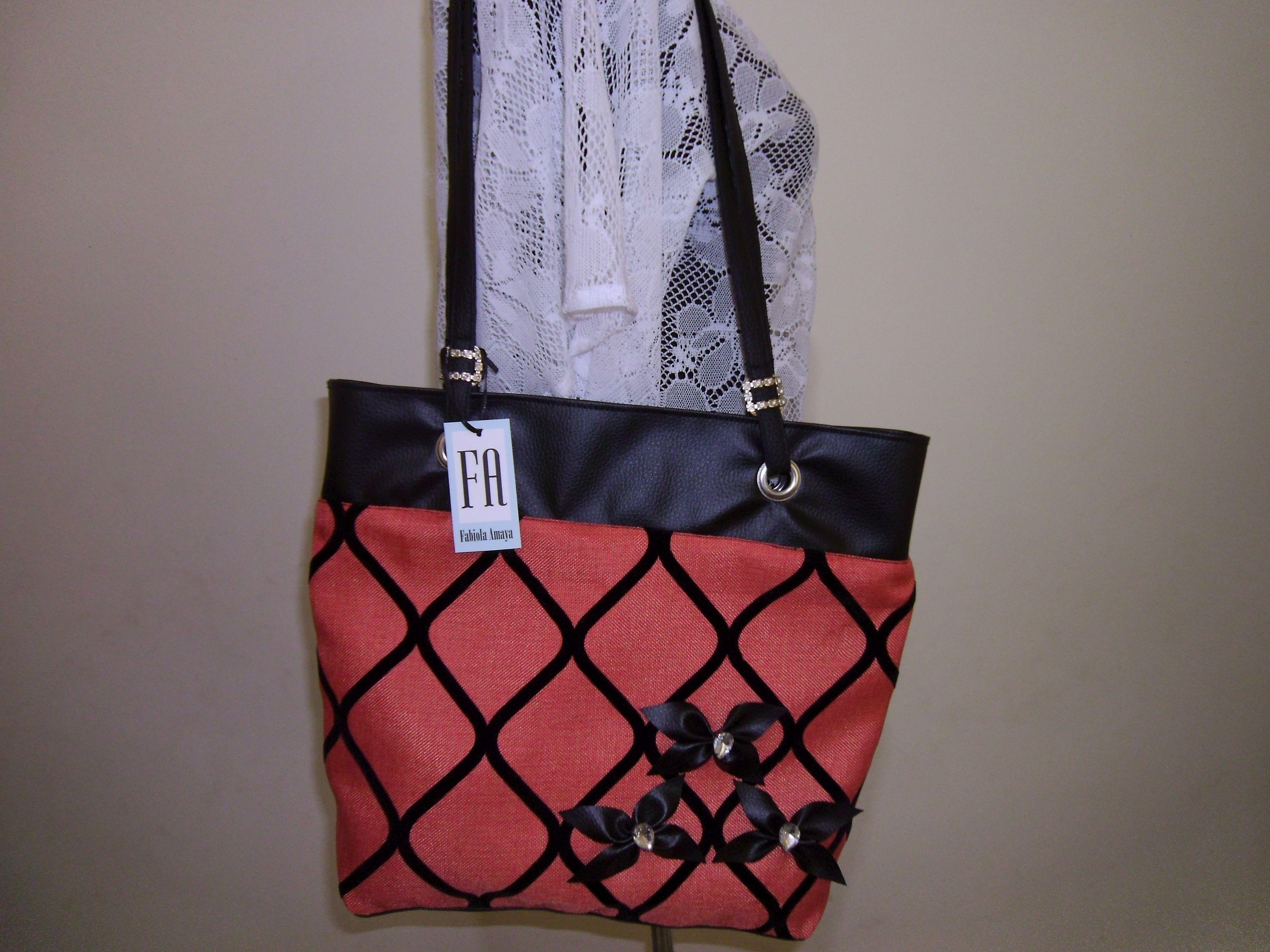 74ec8c945 cartera de lona con semi cuero | Diseños VIDA AMOR | Tote Bag, Bags ...