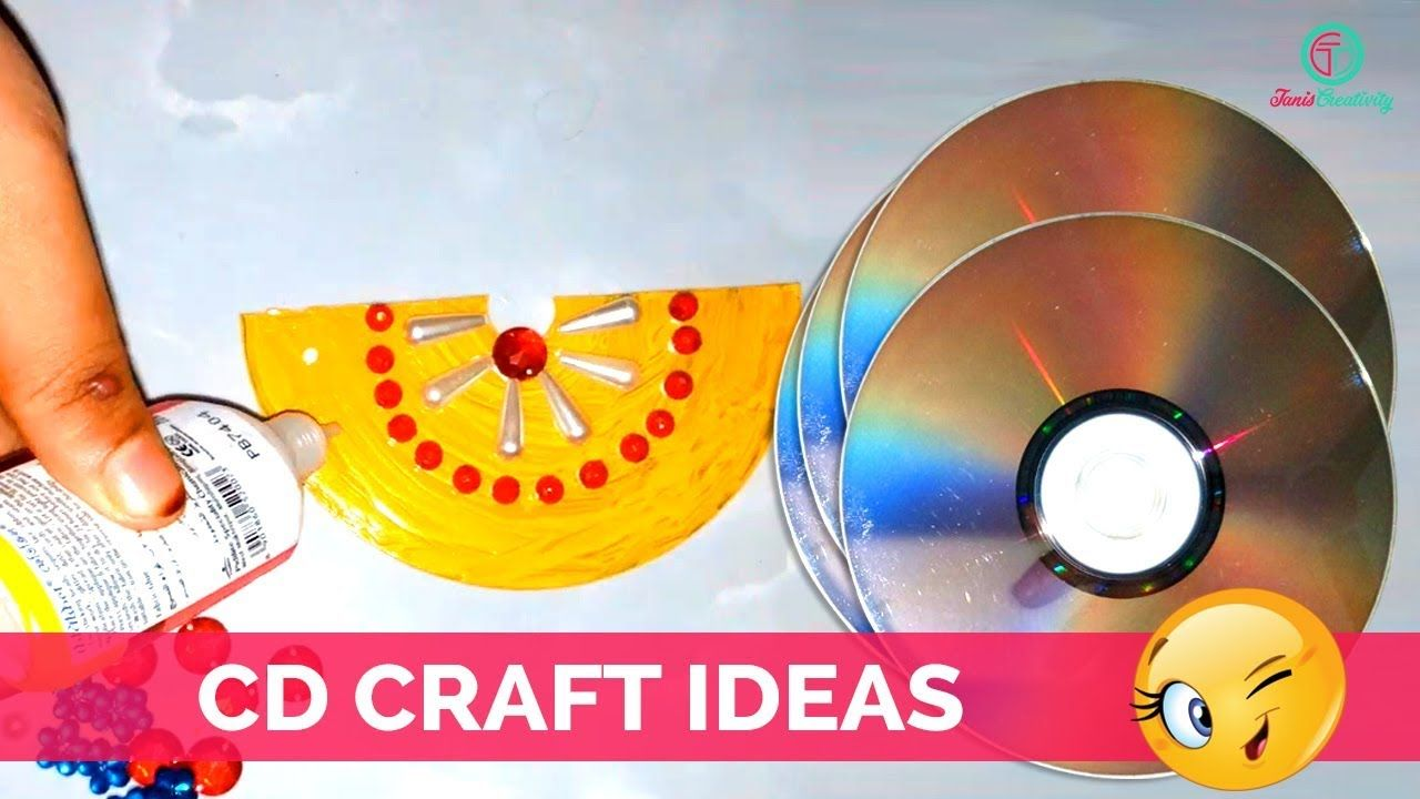 How to create cd wall hanging from cd craft ideas | Best out of ...
