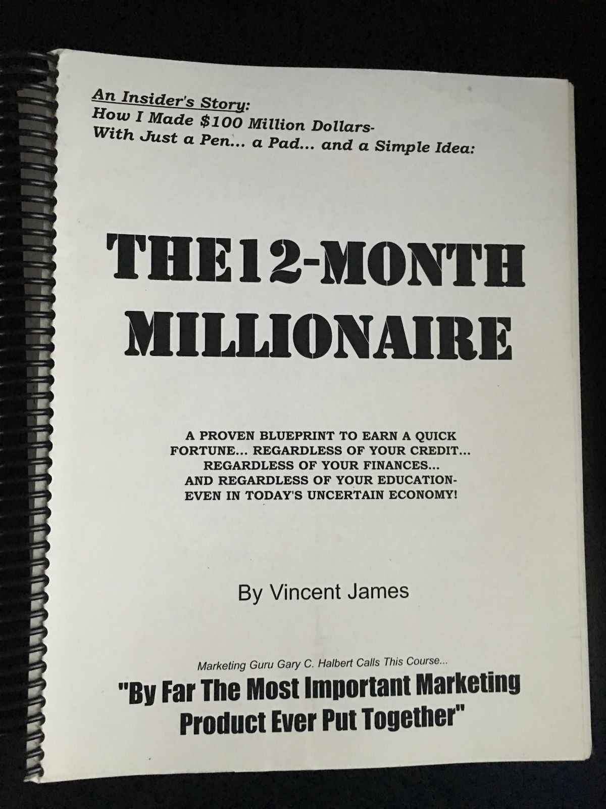 12 month millionaire by vincent james physical book gary halbert 12 month millionaire by vincent james physical book gary halbert jay abraham the long malvernweather Images