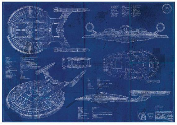 Star trek enterprise nx 01 blueprint art print a2 420mm594 or star trek enterprise nx 01 blueprint art print a2 420mm594 or 165 234 malvernweather Images