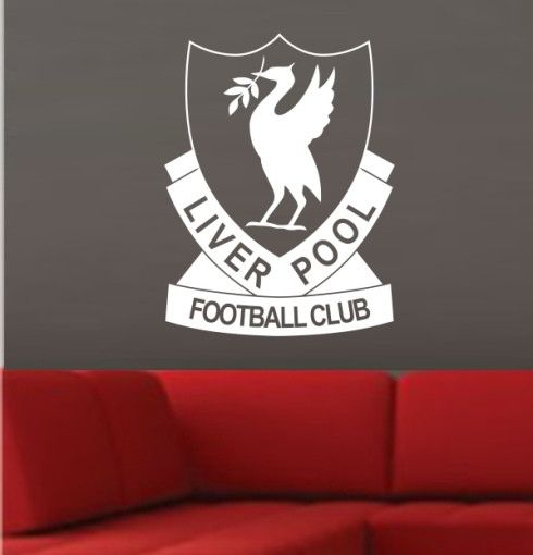 Retro liverpool football club logo wall art sticker small vinyl decal