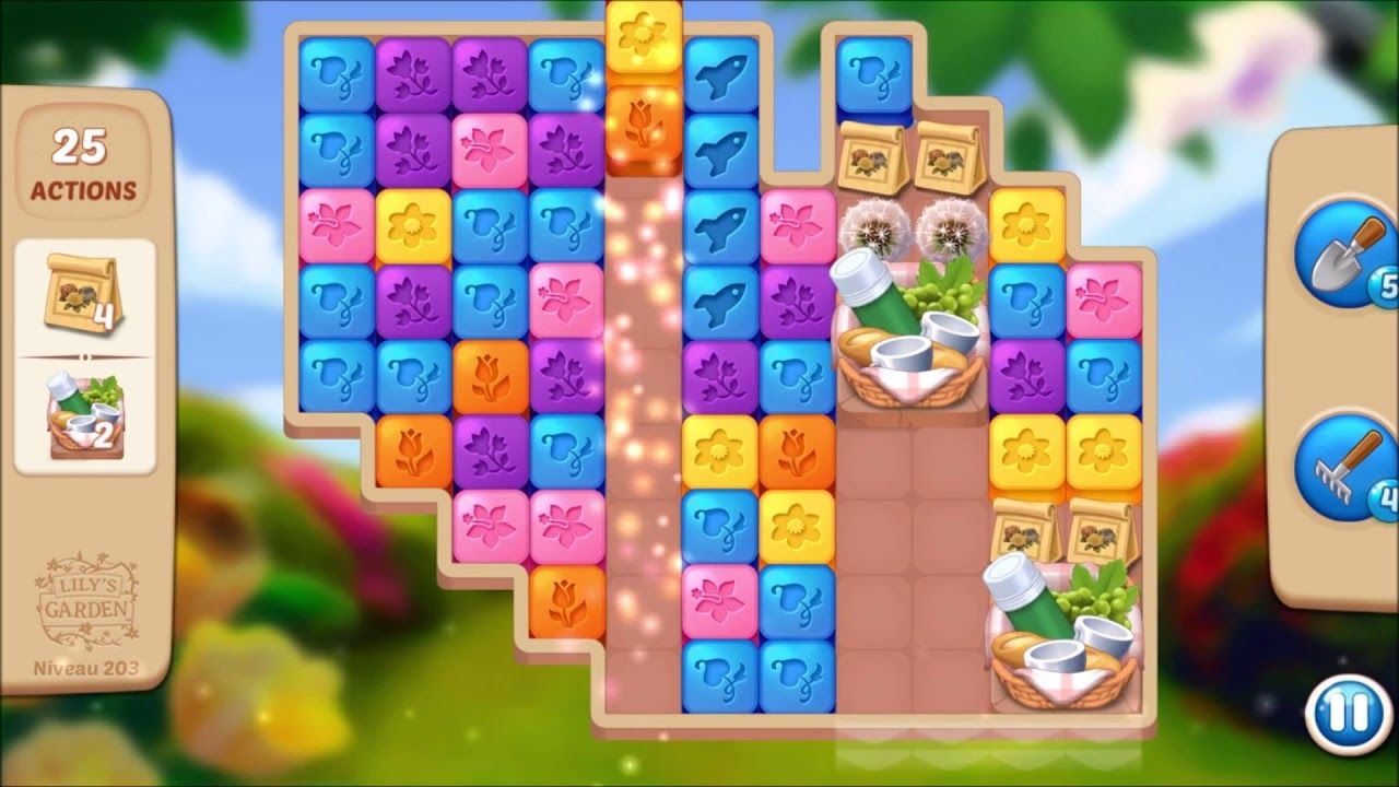 Lily S Garden Level 203 No Boosters Lily Garden Garden Levels Lily