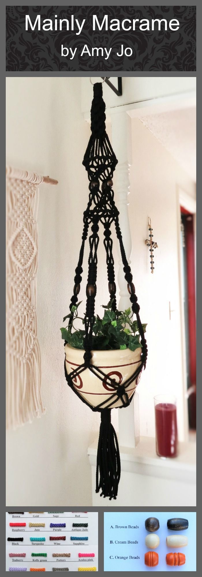 Photo of Gothic Wedding – Black Wedding Decor – Gothic Home Decor – Macrame Wedding Decor – Black Macrame Plant Hanger – Gothic Planter – Goth Decor