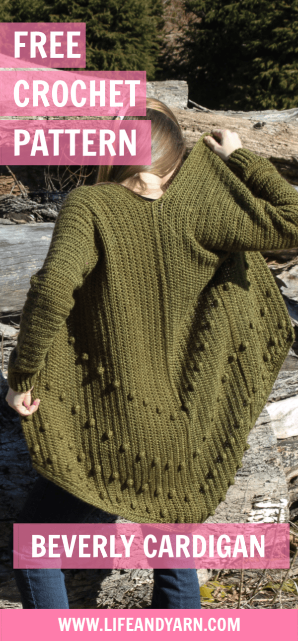 Free Crochet Cardigan Pattern - Beverly - Life and Yarn Free Crochet -   16 knitting and crochet Patterns sweater coats ideas