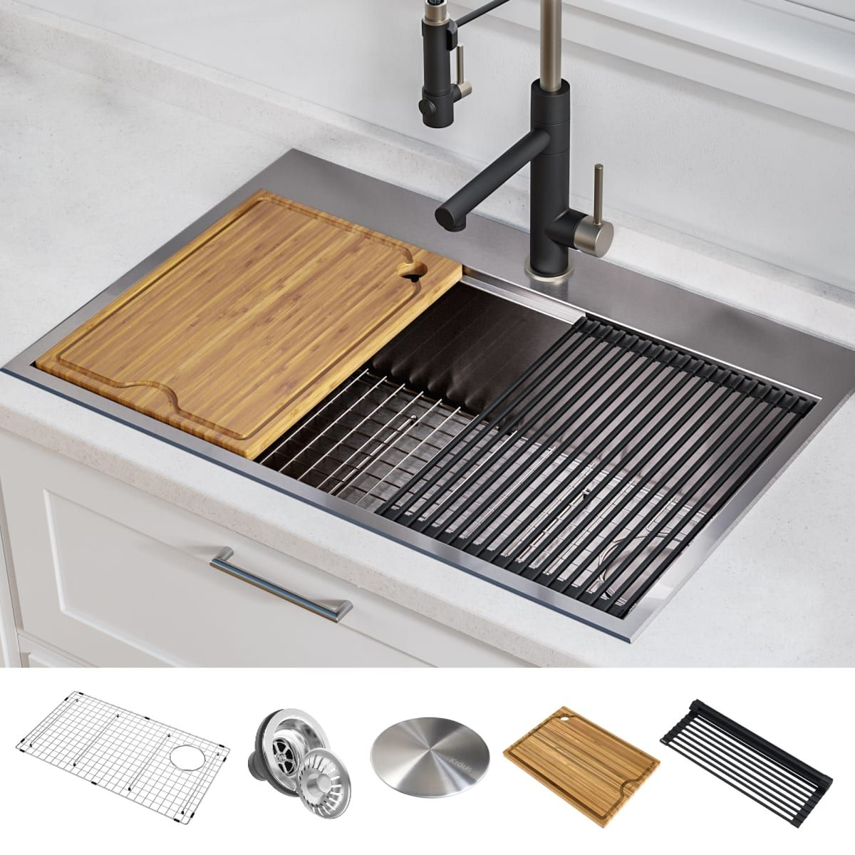 Kraus Kwt310 30 Drop In Kitchen Sink Steel Kitchen Sink Single