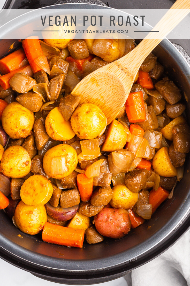 This Vegan Pot Roast Made In The 10 Qt Crock Pot Express Easy Steam Release Pressure Cooker Is