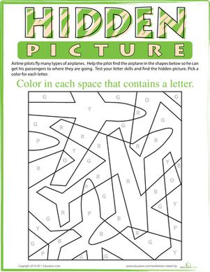 color by letter number worksheets hidden pictures and worksheets. Black Bedroom Furniture Sets. Home Design Ideas