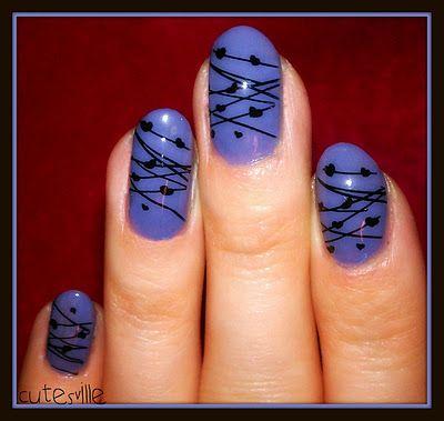 lavender nail art  #bundlemonster #nailart #imageplate