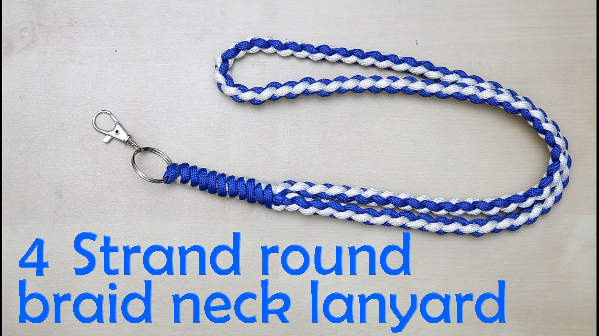 Watch How to Make a Paracord Lanyard video