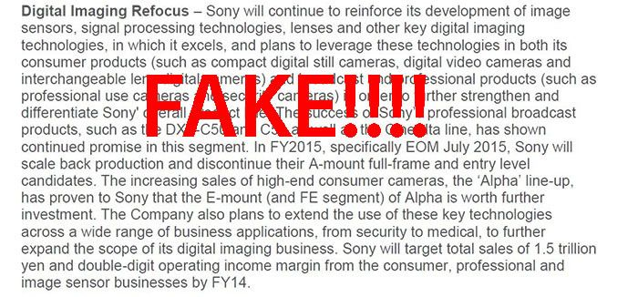 When a FAKE becomes so strong that it's hard to make it go away. #SonyAMount