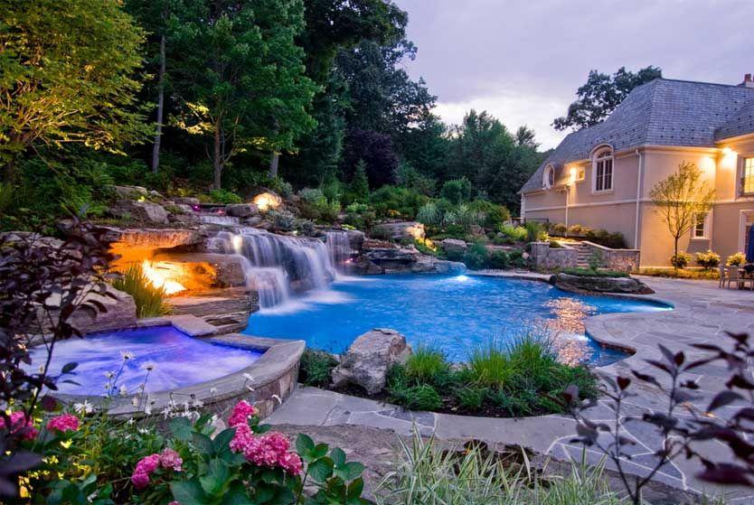 garten, haus planen bauen garten mit pool wasserfall inklusive, Garten ideen gestaltung