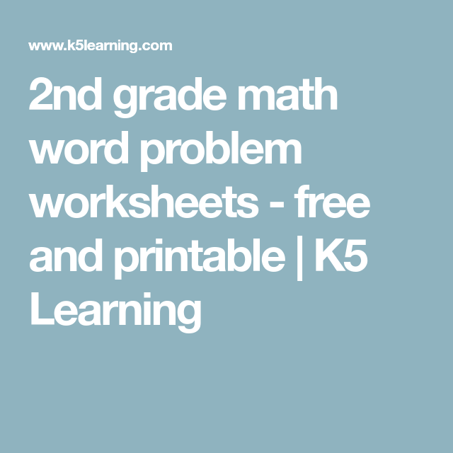 2nd grade math word problem worksheets - free and printable | K5 ...