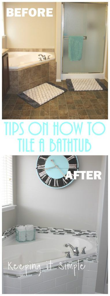 Tips on How to Tile a Corner Bathtub using Wavecrest and Venatino Linear Mosaic Tiles • Keeping it Simple