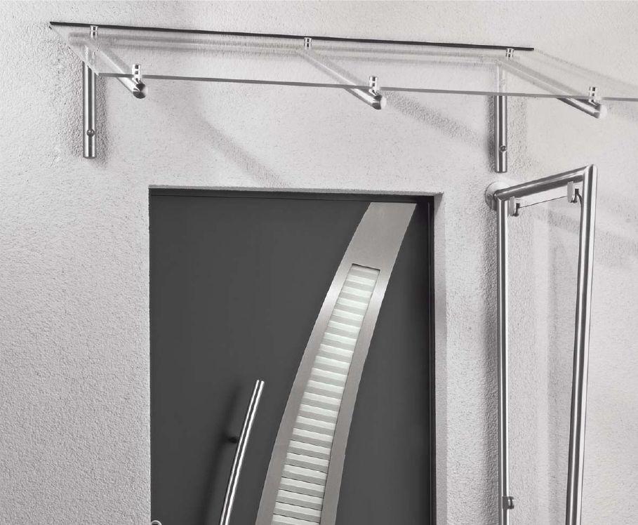 vordach mit rundrohren aus edelstahl und vsg glas. Black Bedroom Furniture Sets. Home Design Ideas