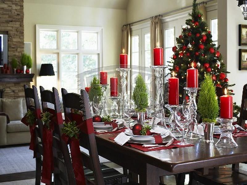 Nice Christmas Dining Room Decorating Ideas On With Kitchen Table Pictures Picture