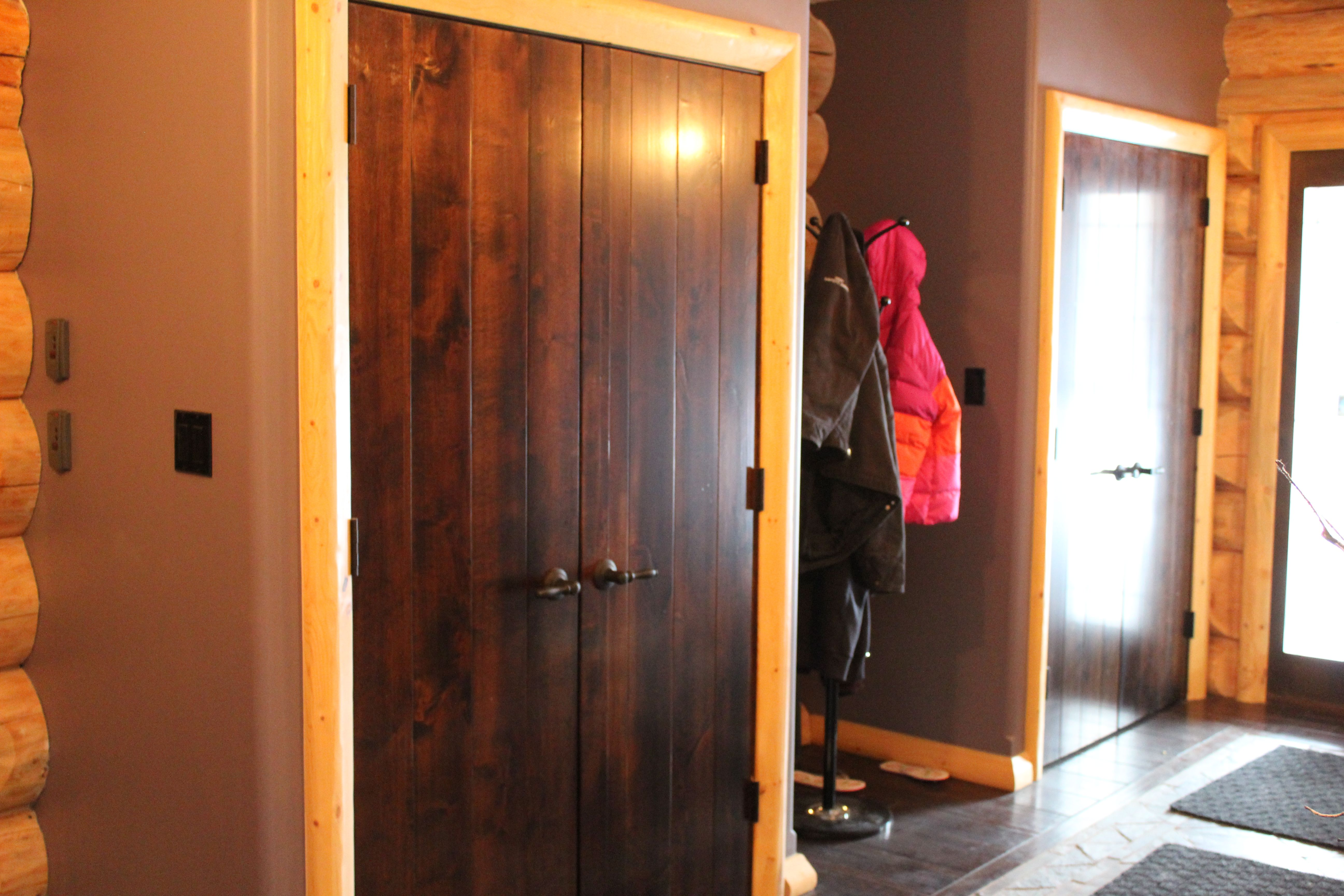 I Custom Built All The Interior Doors For The This Log Homethese