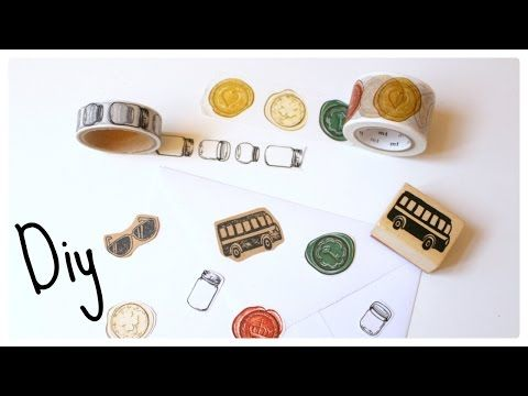 DIY Washi tape & Stamped Paper Embellishments - YouTube