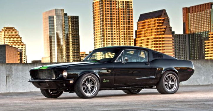 The All Electric 800hp Ford Mustang Zombie 222 Ford Mustang Muscle Cars Mustang 1968 Ford Mustang Fastback