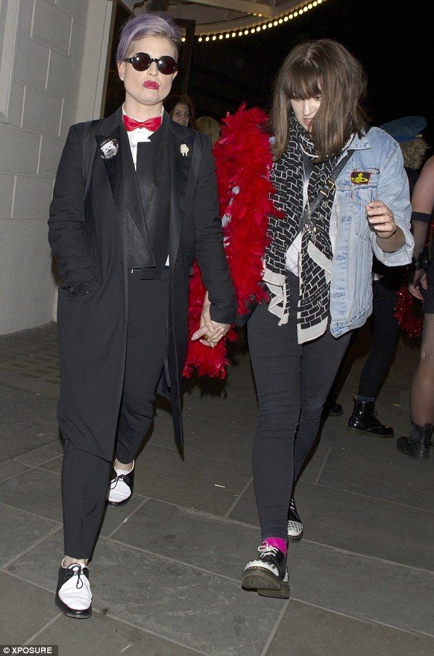 Celebrating Halloween early? Kelly Osbourne stepped out in a Dracula-inspired outfit as she enjoyed a night with a girl friend in London on Saturday