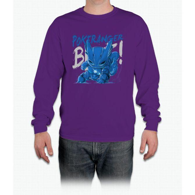 Blue! Pikachu Long Sleeve T-Shirt