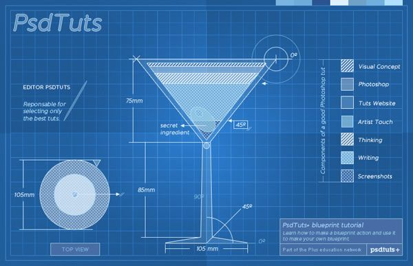 Create a cocktail blueprint using actions in photoshop all about create a cocktail blueprint using actions in photoshop malvernweather Image collections