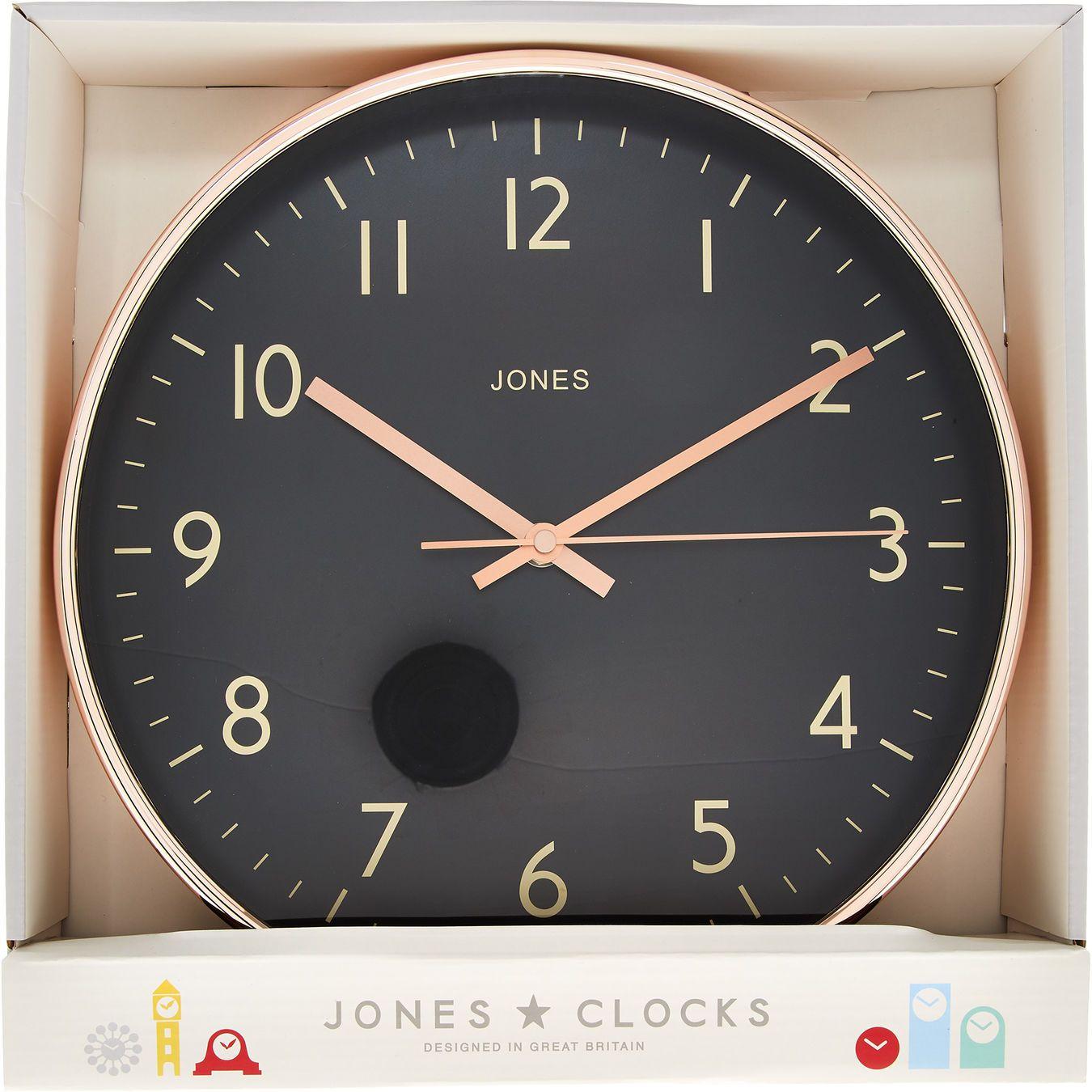 Black Copper Tone Wall Clock Clocks Home Accessories Home Tk Maxx Living Room