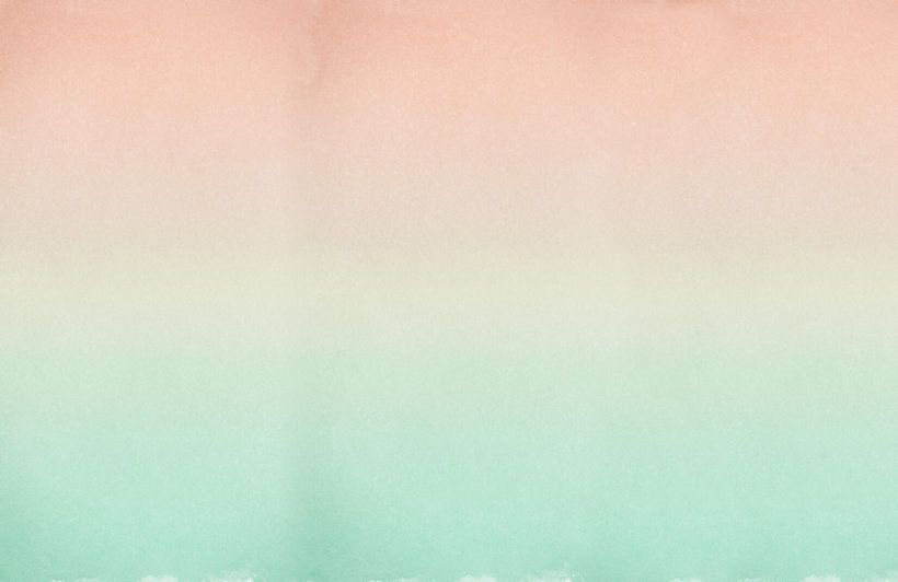 Peach and Turquoise Fade Ombre Wall Mural Colorful