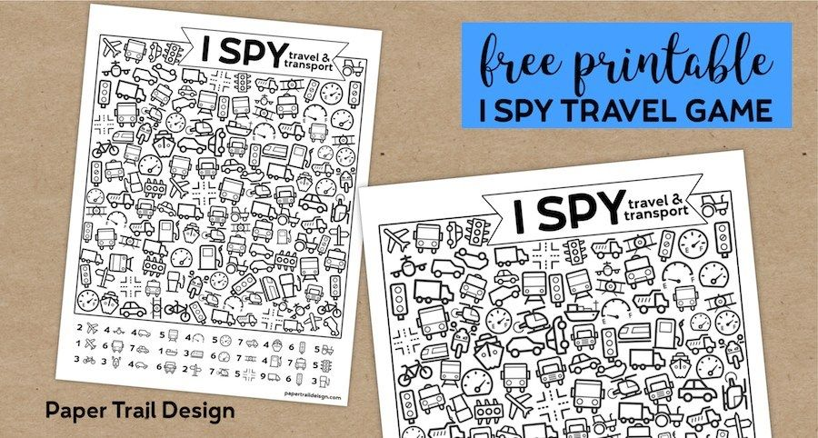 Free Printable I Spy Road Trip Activity Travel & Transport is part of Printable road trip games, I spy games, Road trip games, Spy games, Camping activities for kids, Travel games - Free Printable I Spy Road Trip Activity Travel & Transport  Fun boredom buster kids game for a rainy day, or summer activity