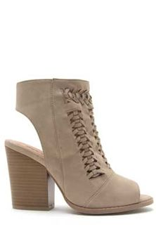 8f4724de1f5 Qupid Shoes Barnes Braided Peep Toe Booties in Taupe BARNES-208A-TAU ...