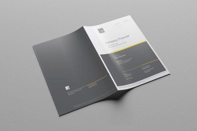 Free Business Proposal Template Ai Free Business Proposal Template Proposal Templates Brochure Template