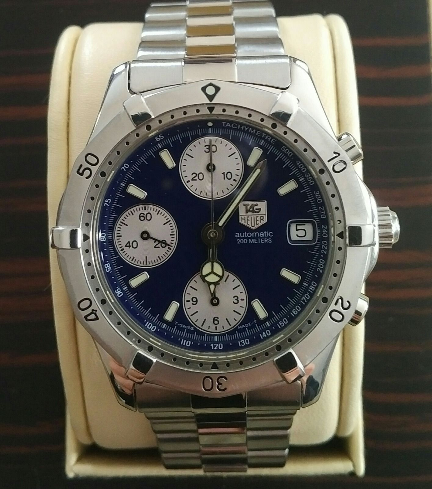 Tag heuer 2000 automatic chronograph ck2111 rare classic many extras tag heuer for Tag heuer automatic