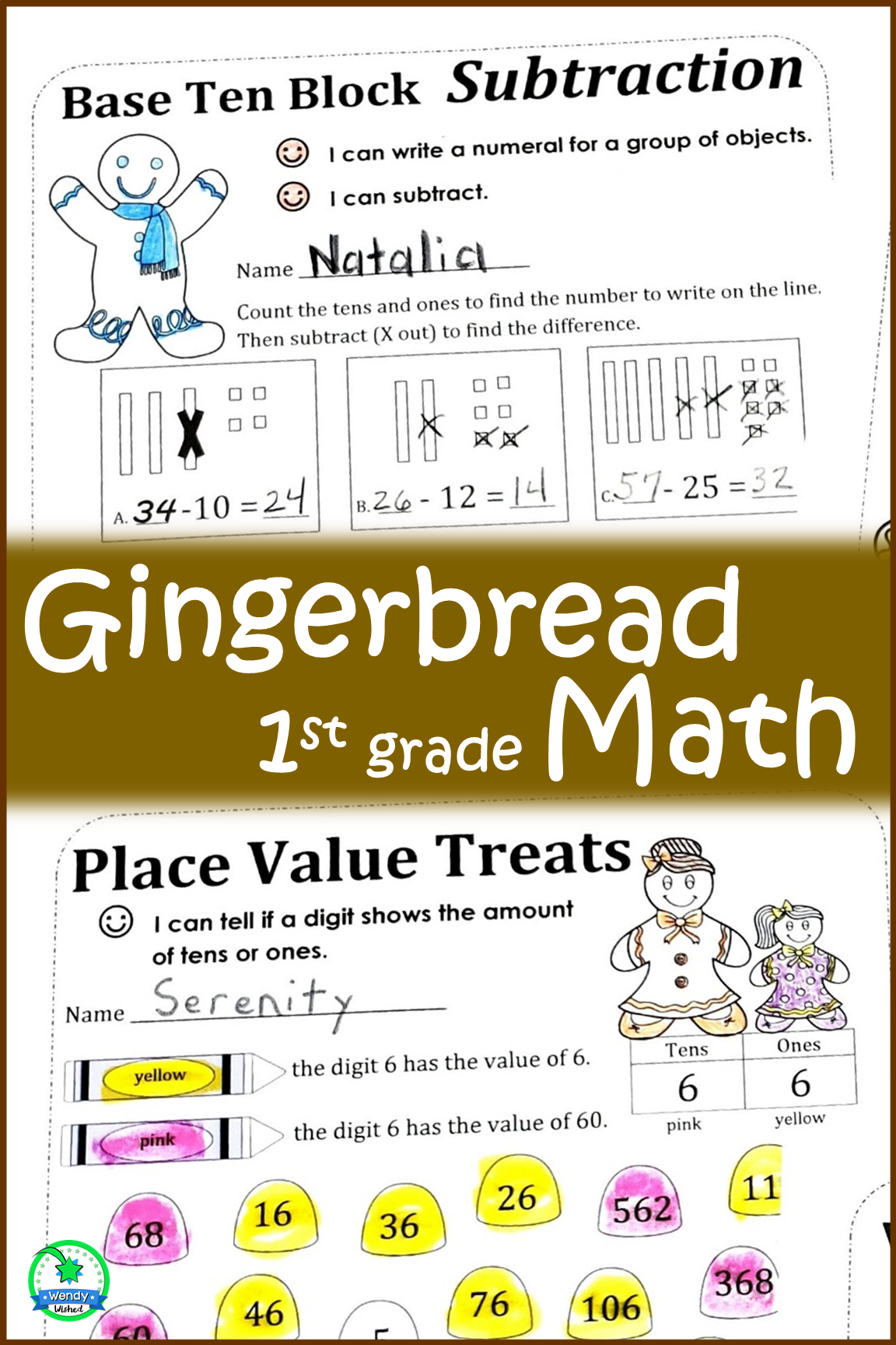Gingerbread Man Math Worksheet Activities For First Grade