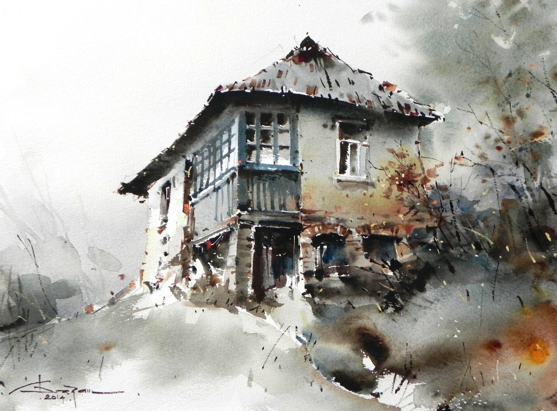 corneliu dragan targoviste pinterest watercolor paintings and water. Black Bedroom Furniture Sets. Home Design Ideas