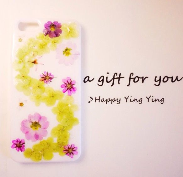 ---------------------------------------------☆本物の花、押し花を樹脂で閉じ込めたiPhone5/iphone5s...|ハンドメイド、手作り、手仕事品の通販・販売・購入ならCreema。