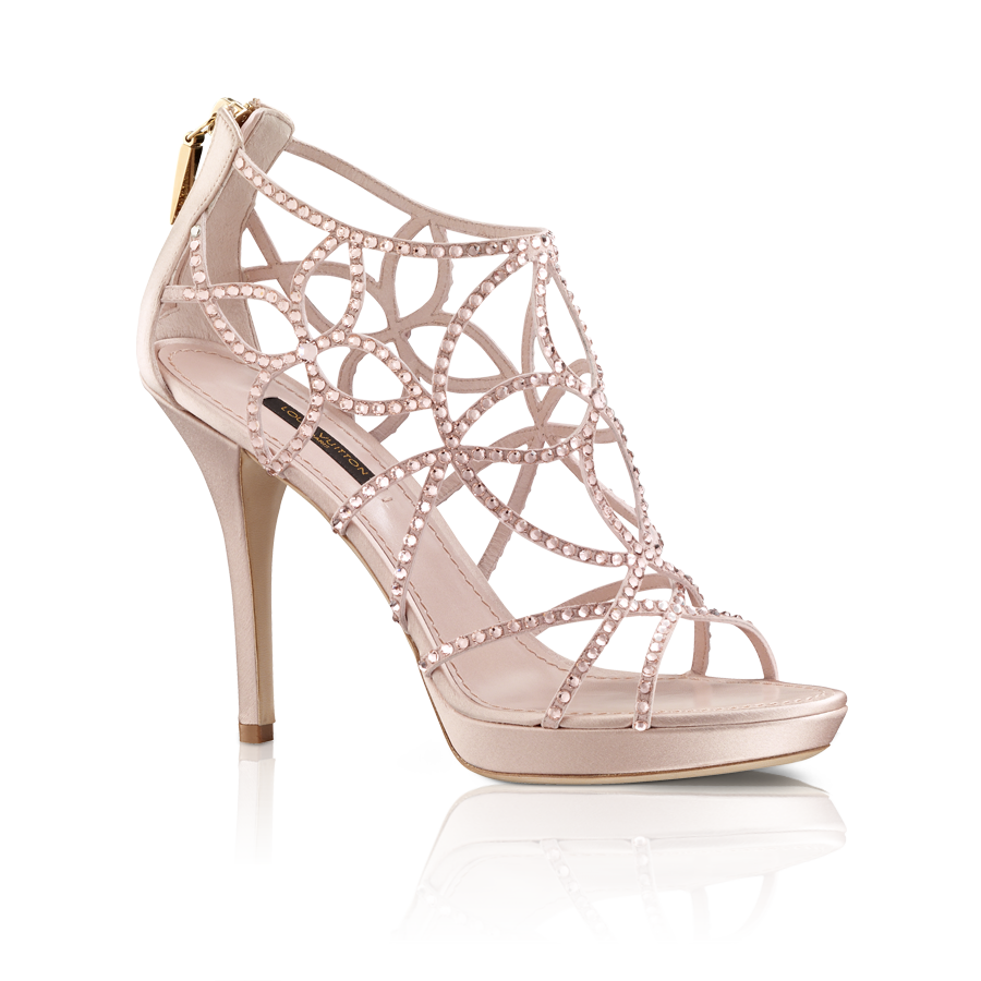 Tisha Sandal In Strass And Satin Via Louis Vuitton Bridal ShoesWedding