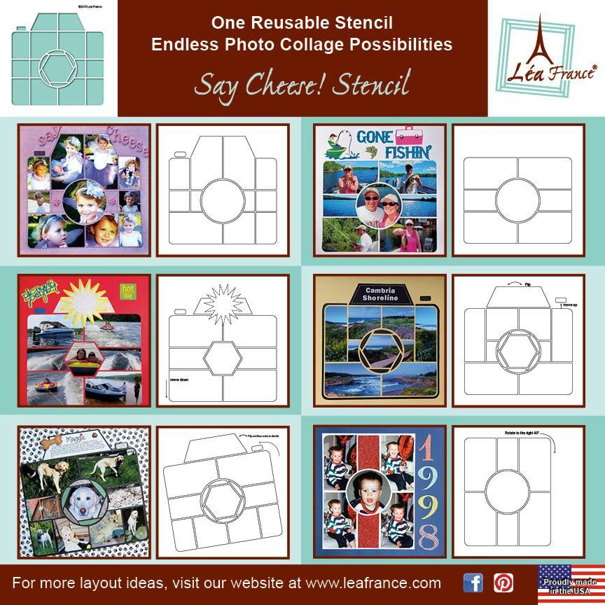 All of our packaging includes sample layouts to get you started, to view them click on the second image. As with all of our stencils, this template has been manufactured in the USA from a very high qu