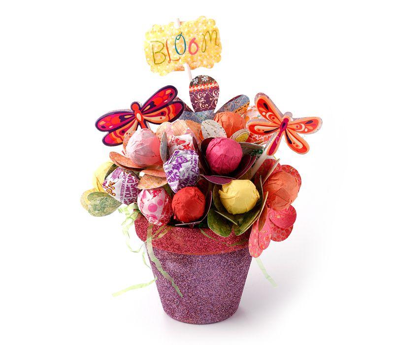 Candy Filled Lollipop Flower Bouquet - great for kids, teachers ...