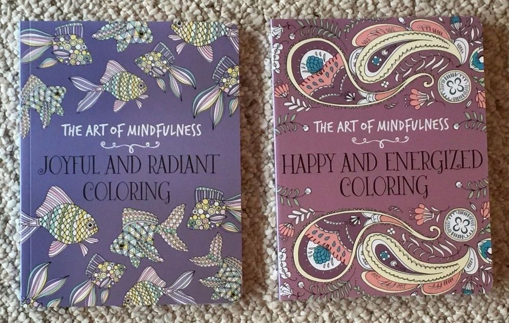 Lot Of 2 New Mandala Animals Floral Nature Adult Coloring Books BNew Grown Up