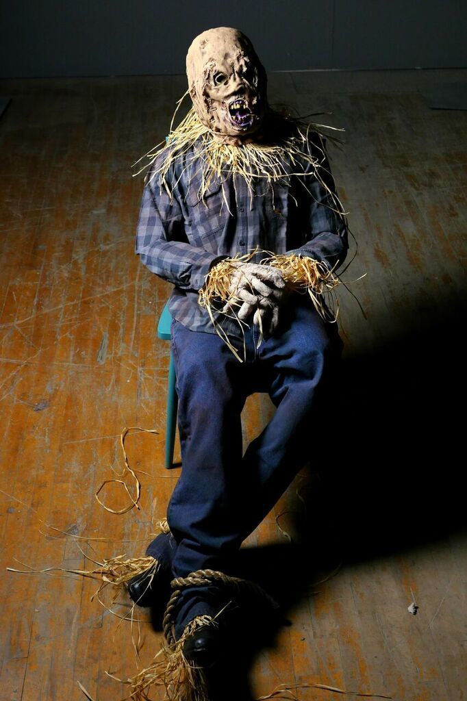 SCARY SCARECROW PROP - Haunted Props HALLOWEEN IDEA\u0027S DECORATIONS - scary halloween props