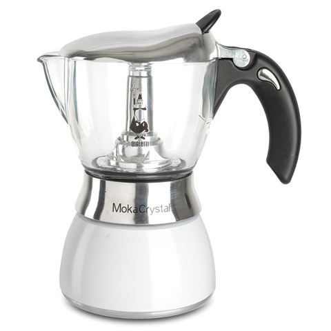 Bialetti Moka Crystal Espresso Maker White 4 Cup Coffee Moka Coffee Cafe