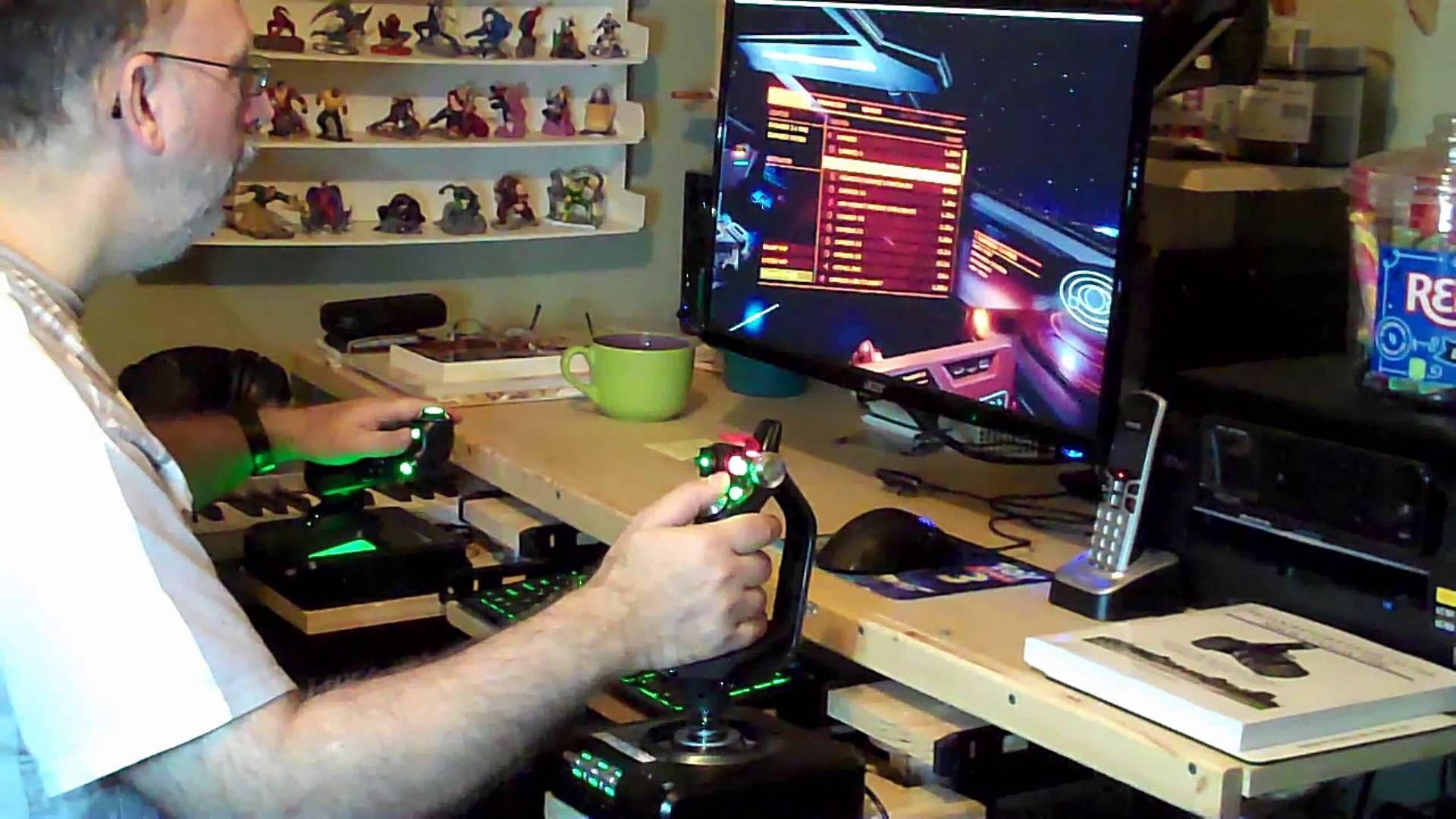 Elite Dangerous Hotas Desk Mounts Gaming Station Shipping Container Homes Flight Simulator Cockpit