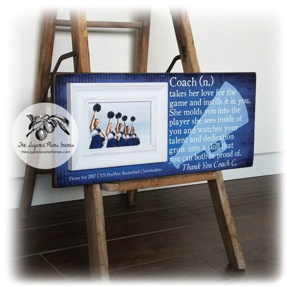 Cheer Coach Gift Dance Team Coach Personalized Picture Frame 8x20 The Sugared Plums Frames Cheer Coach Gifts Coach Gifts Personalized Picture Frames
